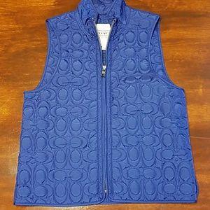 Coach SZ S purple vest